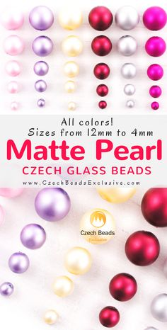 New Matte Pearl Imitation Czech glass beads! | SAVE it!| www.CzechBeadsExclusive.com #czechbeadsexcluisve #czechbeads