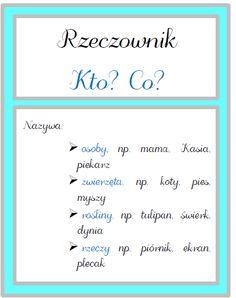 Polish Language, Grammar, Hand Lettering, Back To School, Homeschool, Math Equations, Education, Blog, Amelia