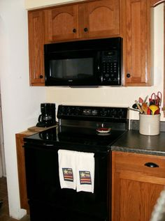 Kitchen Cabinets Black Appliances kitchen | black appliances, dark countertops and black countertops