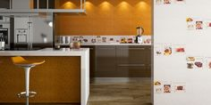 Love the overall look, not the color. Low profile of cabinets