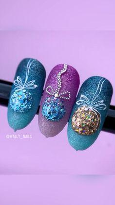 Nail Art Noel, Christmas Gel Nails, Christmas Nail Designs, Christmas Nail Art, Christmas Design, Nail Art Hacks, Nail Art Diy, Diy Nails, Cute Nails