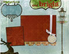 Premade Scrapbook Page Winter Wonderland by SusansScrapbookShack