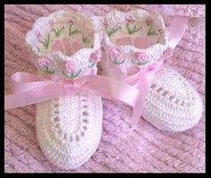 TODO CROCHET MONICA SOLIS: zapatos para bebe a crochet