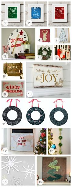 check out our simple and fun #DIY wall #decorations for the holidays! Which one of these DIY décor pieces can you see in your home or #apartment? #holidaydecor