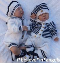 Knitting pattern KSB 46 *** *** MATELOT 3 OU 4 SAILOR PIECE s'apprête à faire pour votre bébé ou une poupée REBORN