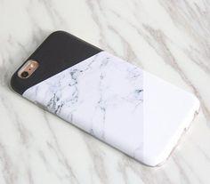 Natural Marble Print Geometric iPhone SE case iPhone 6s protective S7 case… #Iphone6Cases