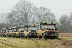 Land Rover Defender: Camel Trophy adventure team. So nice.