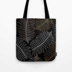 New In Store Jungle LEaf Black Tote Bag $5 Off Plus Free Shipping Worldwide Today!