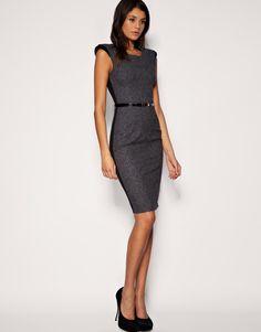 Asos tailored exposed shoulder pencil dress