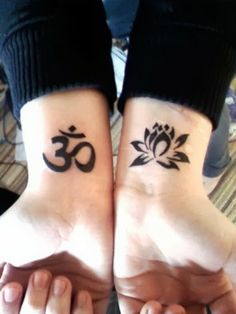 Namaste Symbol Tattoo Om symbols. I like the idea of cool black shading, but…