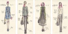 Amazing examples on how to fill your Fashionary sketch book