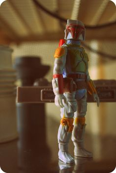 My favorite action figure of all time, kenner' Boba Fett. Still have mine from when I was 5, the figure is over 30 years old.
