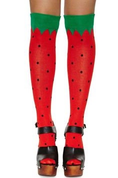 Watermelon Thigh High Socks