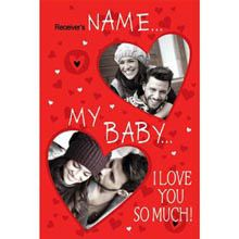 A Good Gift For Fiance Female Personalised Love Card Birthday Cool