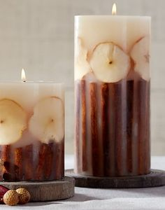 Harvest candles. So warm & cozy!