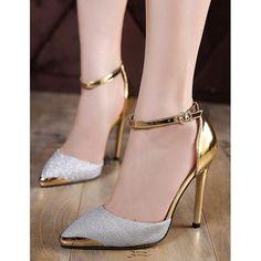 Fashion Glitter Sequin Pointed Toe Stiletto High Heel Pumps