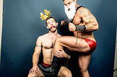 Rogan Richards with his elf slut Skippy Baxter.