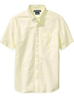MEN - Soft Yellow Oxford Shirt