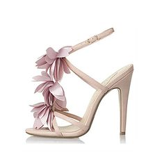 pink flowers stiletto heel