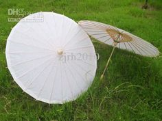 Wholesale Fans & Parasols - Buy Hand Made 33 Inches Solid White Paper Parasols Bridal Wedding Parasols Chinese Straight Bamboo Umbrellas DIY Painting Umbrella, $5.4 | DHgate