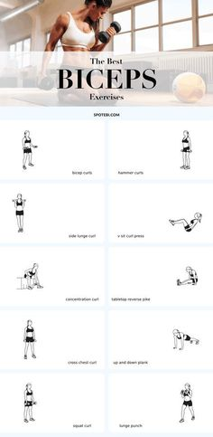 The best exercises for sexy, lean and sculpted biceps! We all know that toned, svelte arms look good on every woman, but a lot of women tend to store more fat in the upper arms making that area look less defined and sometimes even loose. To sculpt lean, sexy upper arms you need to start training your biceps and triceps regularly. Pair the following 10 biceps exercises with our top 10 triceps moves, grab a set of dumbbells and say goodbye to flabby arms!