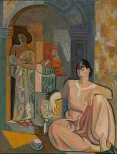 André Lhote - Interior com Figuras Femininas, 1936. óleo sobre tela. MASP (Museu de Arte de São Paulo Assis Chateaubriand), Brasil.