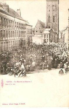 Sedert 1618 werd de verkoop van boter en kaas overgebracht naar de Paradeplaats vlak bij het stadhuis. Vandaar de naam Botermarkt. De aanvoer geschiedde in grote en kleine kuipen. De boter was meestal afkomstig van Diksmuide, van Veurne, van Roeselare (1664).