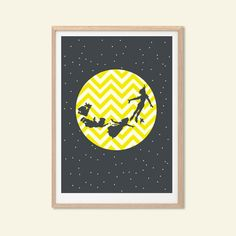Peter Pan Poster  Modern Illustration Disney by SealDesignStudio, $14.00