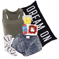 """Laid Up, Eating Fruit."" by neekcole on Polyvore"