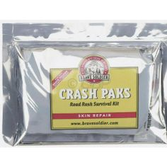 Brave Soldier Crash Paks First Aid Kit by Brave Soldier. $14.98. The Brave Soldier Crash Pak kit contains everything you need to effectively treat a common road rash injury immediately after crashing. Proper use of this kit helps prevent abrasions from healing with dirt and debris embedded in the wound.