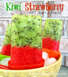 Kiwi Strawberry Popsicles