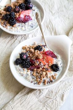 Simple, yet wonderfully tasty || Homemade granola, soy milk & fresh fruit