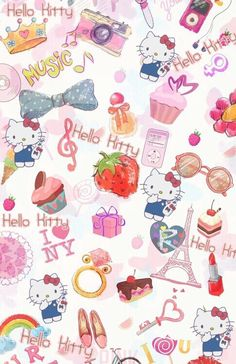 Image about pink in Hello Kitty by May May on We Heart It Sanrio Wallpaper, Kawaii Wallpaper, Cartoon Wallpaper, Cool Wallpaper, Iphone Wallpaper, Pink Wallpaper, Hello Kitty Backgrounds, Hello Kitty Wallpaper, Princesas Disney Dark