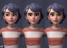 Character I did for Yogyakarta Multimedia High School's Animation Expo (AXPO). Based on my concept. Original character design created by my friend Rena and Ilma. I was responsible for modelling and surfacing the character. 3d Character Animation, Zbrush Character, 3d Model Character, Character Modeling, Character Creation, 3d Animation, Character Concept, Character Art, Character Design Girl