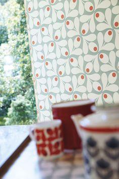 Orla Kiely for Harlequin - acorn spot print wallpaper  at Heal's