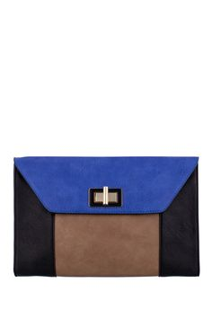 Another great find on Blue & Black Color Block Annabelle Clutch by Melie Bianco Melie Bianco, Blue Black Color, Fashion Forever, Cool Style, My Style, New Pins, Beautiful Bags, Small Bags, Handbag Accessories
