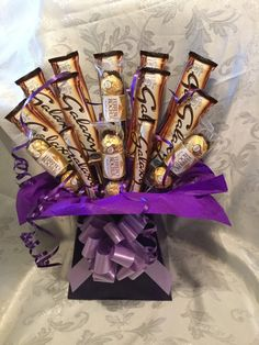 Galaxy and ferrero rocher chocolate bouquet by Sweetcreationsstoke