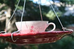 A Law Student's Journey: Teacup Bird Feeders tutorial