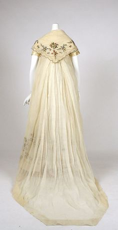 Ensemble    Date:      ca. 1798  Culture:      European (probably)  Medium:      cotton, silk (see front pic also)