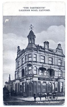 The Dartmouth in Laleham Road, Catford. London History, Local History, London Transport, Dartmouth, Old London, London Street, Old Photos, Brewery, Public