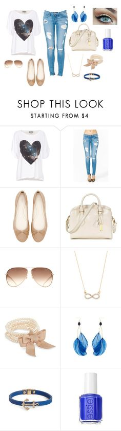 """""""Tenue."""" by julie-offishial ❤ liked on Polyvore featuring Wildfox, Zara, RABEANCO, With Love From CA, J by Jasper Conran, BaubleBar and Essie"""