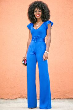 Style Pantry | Short Frill Sleeves Jumpsuit