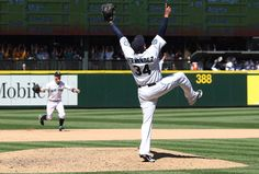 Felix Hernandez pitches the Seattle Mariner's first perfect game.