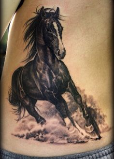 Horse tattoo beautiful art!