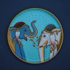 Wooden Plates, Plates On Wall, India Poster, Pichwai Paintings, Cow Painting, Indian Folk Art, Wall Installation, Lord Krishna, Nature Animals