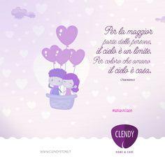"""""""Per la maggior parte delle persone il cielo è un limite. Per coloro che amano, il cielo è casa."""" (Anonimo) Amare è un po' come volare.  Prendi la rincorsa, spicchi il volo, ti senti leggero e non hai paura di cadere vuoto. #aforismi #citazioni #quotes #amare #volare #frasi #amore www.clendystore.it"""