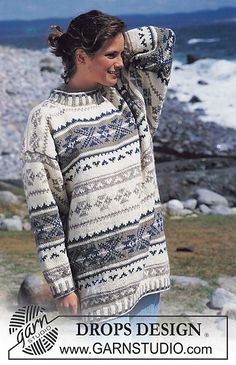 Nordic - Free knitting patterns and crochet patterns by DROPS Design Drops Design, Fair Isle Knitting, Free Knitting, Sweater Knitting Patterns, Knit Patterns, Pretty Outfits, Cool Outfits, Drops Patterns, Fair Isle Pattern