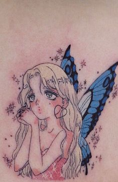 Anime Tattoos, Body Art Tattoos, Small Tattoos, Small Fairy Tattoos, Tatoos, Kawaii Tattoos, Sleeve Tattoos, Mini Tattoos, Fairy Sleeve Tattoo