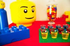 Colorful Lego birthday party! See more party ideas at CatchMyParty.com!