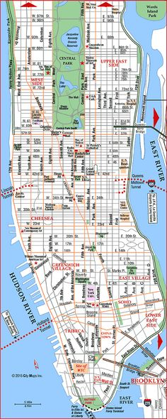 Tourist map of New York City attractions sightseeing museums